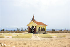 Alto Vista Chapel on Aruba island Royalty Free Stock Photos