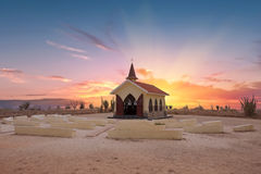 Alto Vista Chapel on Aruba island Stock Images
