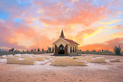 Alto Vista Chapel on Aruba island in the Caribbean Royalty Free Stock Image