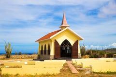 Alto Vista Chapel Aruba. Landmark Alto Vista Chapel along the Aruba Coast in Noord Royalty Free Stock Photo