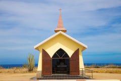 Alto Vista Chapel Aruba. Landmark Alto Vista Chapel along the Aruba Coast in Noord Stock Photos