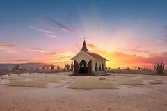 Alto Vista Chapel op het eiland van Aruba Stock Afbeeldingen