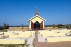 Alto Vista Chapel. Views around Aruba a small caribbean Island in the Netherland Antilles Stock Image