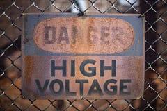Alto voltaje del peligro Imagenes de archivo