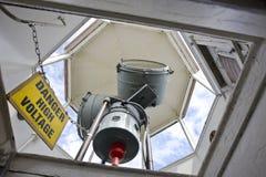 Alto voltaje del peligro Foto de archivo libre de regalías