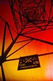 Alto voltaje del peligro Fotografía de archivo libre de regalías