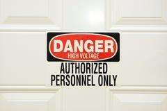 Alto voltaje del peligro Fotografía de archivo