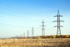Alto voltaje eléctrico Imagen de archivo libre de regalías