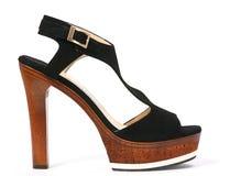 Alto zapato de la mujer Foto de archivo