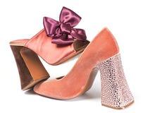 Alto zapato de la mujer Fotos de archivo libres de regalías