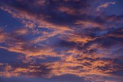 Altocumulus anaranjado Fotografía de archivo libre de regalías