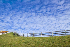 Altocumulus Clouds Gathering At Lyme Regis Stock Image