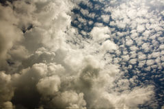 Altocumulus and cumulus clouds Stock Photos