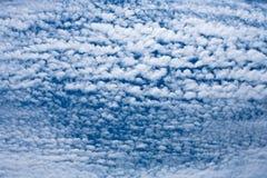 Altocumulus-wolken Royalty-vrije Stock Foto's