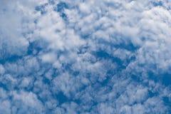 Altocumuluswolken und blauer Himmel Lizenzfreie Stockbilder