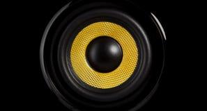 Altofalante amarelo Foto de Stock Royalty Free