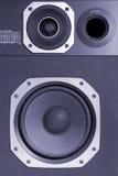 Altofalante audio de alta fidelidade em dois sentidos, azul tonificado imagem de stock royalty free