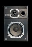 Altofalante audio de alta fidelidade em dois sentidos no preto imagens de stock