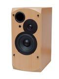 Altofalante audio de madeira imagem de stock