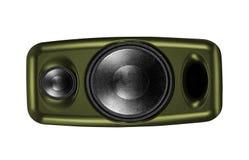 Altofalante audio isolado no branco fotos de stock royalty free