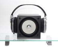 Altofalante com headfones Imagem de Stock Royalty Free