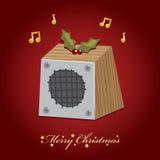 Altofalante da música do Natal ilustração do vetor