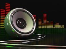 Altofalante da música Foto de Stock Royalty Free
