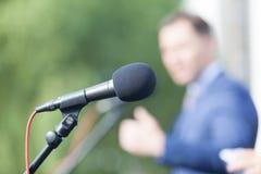altofalante discurso Microfone Conferência de imprensa fotografia de stock royalty free