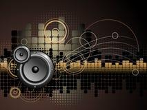 Altofalante e fundo da música Imagem de Stock Royalty Free