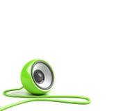 Altofalante verde-claro com cabo Fotografia de Stock Royalty Free