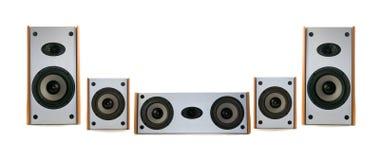Altofalantes audio de madeira Fotos de Stock