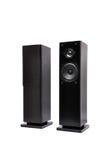 Altofalantes audio pretos imagem de stock
