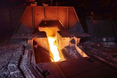 Altoforno in una pianta metallurgica Fotografia Stock