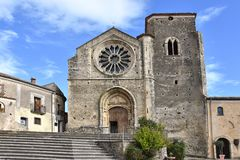 Altomonte, church of Santa Maria della Consolazione. Church of Santa Maria della Consolazione in Altomonte, Calabria, southern Italy. It was built in the 14th royalty free stock photo