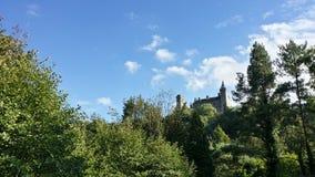 Alton Castle, Staffordshire. Alton Castle through the trees Royalty Free Stock Photography
