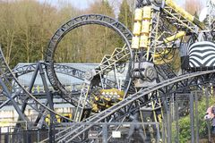 Alton Towers Rollercoaster stock photography