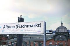 Altona Fish Market, Hamburg Royalty Free Stock Photography
