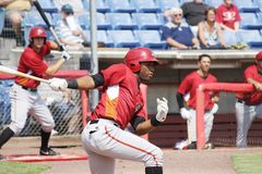 Altoona Curve batter Mel Rojas Jr. Royalty Free Stock Image