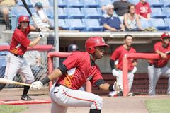 Altoona Curve batter Mel Rojas Jr. Stock Photo