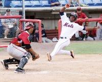 Altoona Curve catcher Miguel Perez Stock Images