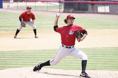 Altoona Curve pitcher Robert Quinton throws Royalty Free Stock Images
