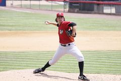 Altoona Curve pitcher Robert Quinton throws Stock Image