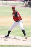 Altoona Curve pitcher Stolmy Pimentel throws Royalty Free Stock Photos