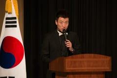 Altoparlante coreano di affari Immagine Stock