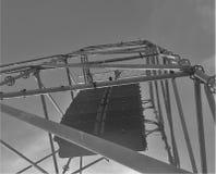 Altoparlante d'attaccatura in bianco e nero Fotografia Stock