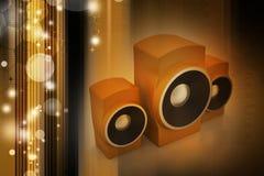 Altoparlante di musica Fotografia Stock