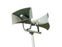 Altoparlante rumoroso del sistema di diffusione sonora - isolato Fotografia Stock