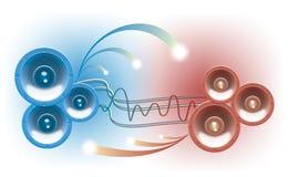 Altoparlante stereo, acustica Fotografie Stock Libere da Diritti