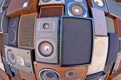 Altoparlanti al festival 2013 del suono di Heineken Primavera Fotografie Stock Libere da Diritti