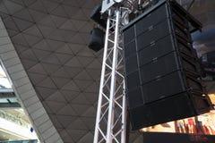 Altoparlanti di concerto in scena Fotografia Stock